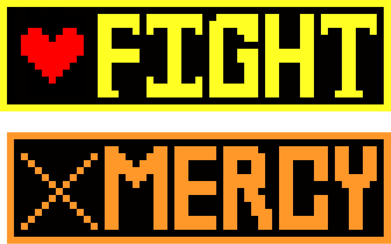 Fight instead of Mercy Undertale - Grid Paint