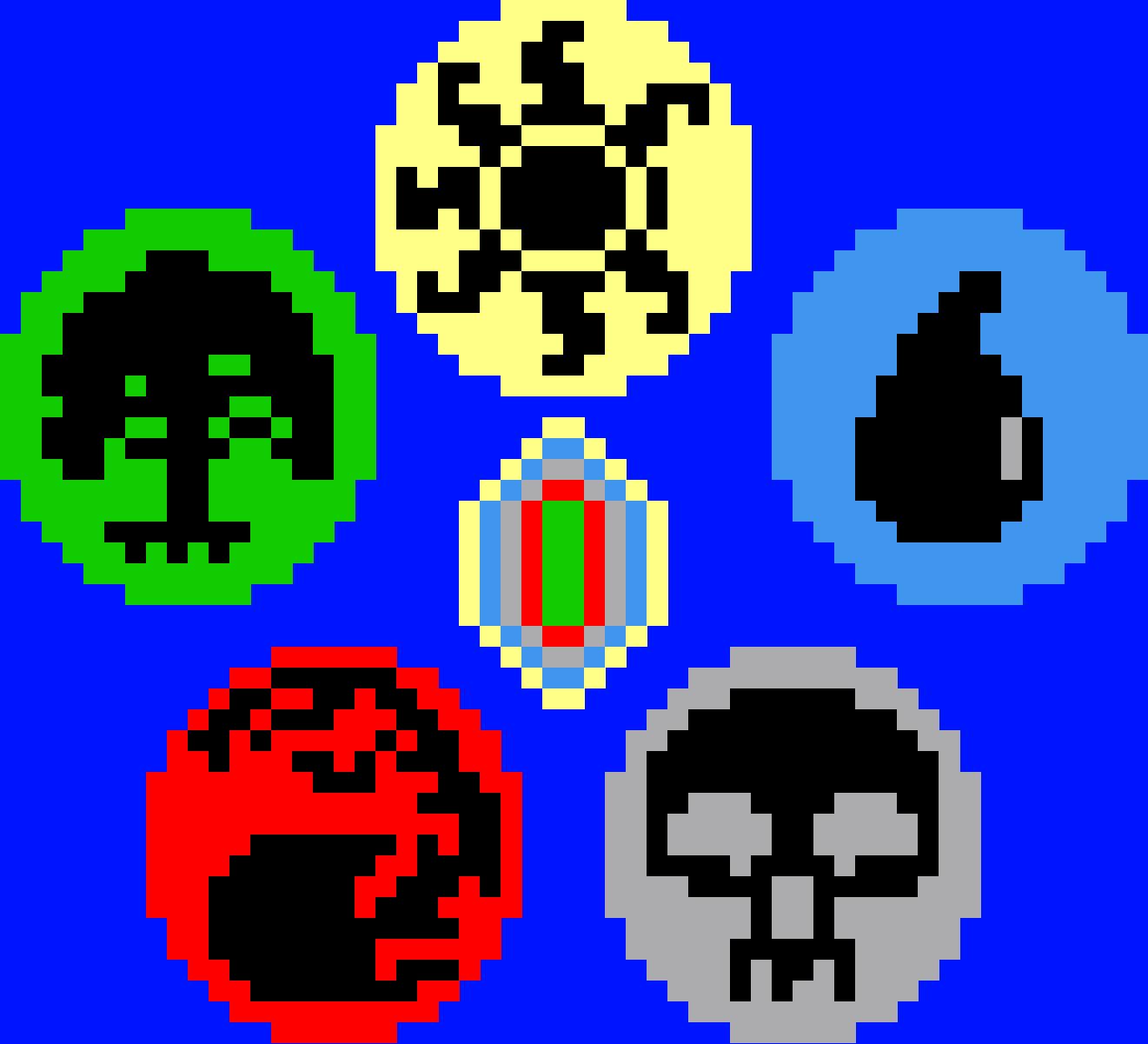 Mtg Mana Symbols Pentagon Grid Paint