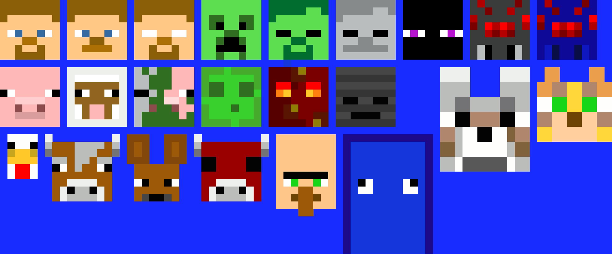 Minecraft Faces Grid Paint